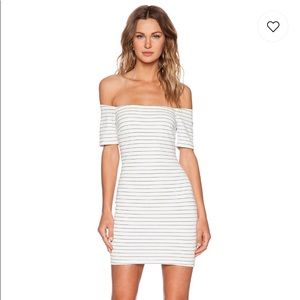 NWT Off the Shoulder Lucy Paris mini bodycon dress